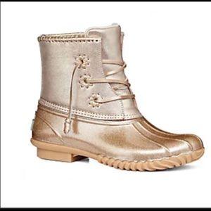 Jack Rogers Chloe Glitter duck boots size 4